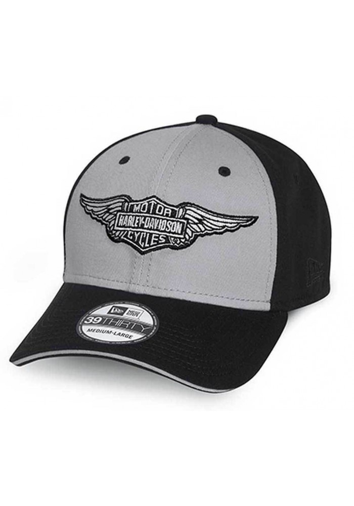 Harley Davidson Homme 39Thirty BS Winged Logo Casquette de Baseball Noir. 99401-15VM