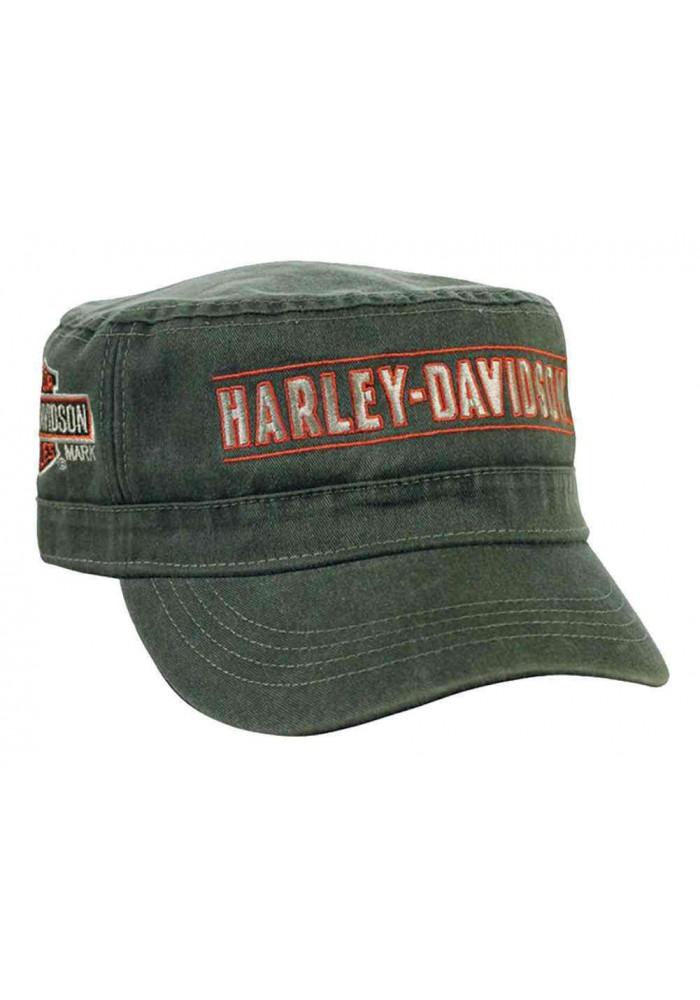 Harley Davidson Homme H-D Script Painter's Casquette Olive Vert PC51653