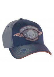 Harley Davidson Homme Casquette de Baseball Willie G Skull Badge Charbon BC09378