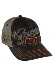 Harley Davidson Homme Script Casquette de Baseball Stretch Fit Noir/Gris BCC01180