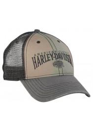 Harley Davidson Homme American Classic H-D Text Casquette de Baseball Khaki/Gris BCC51612