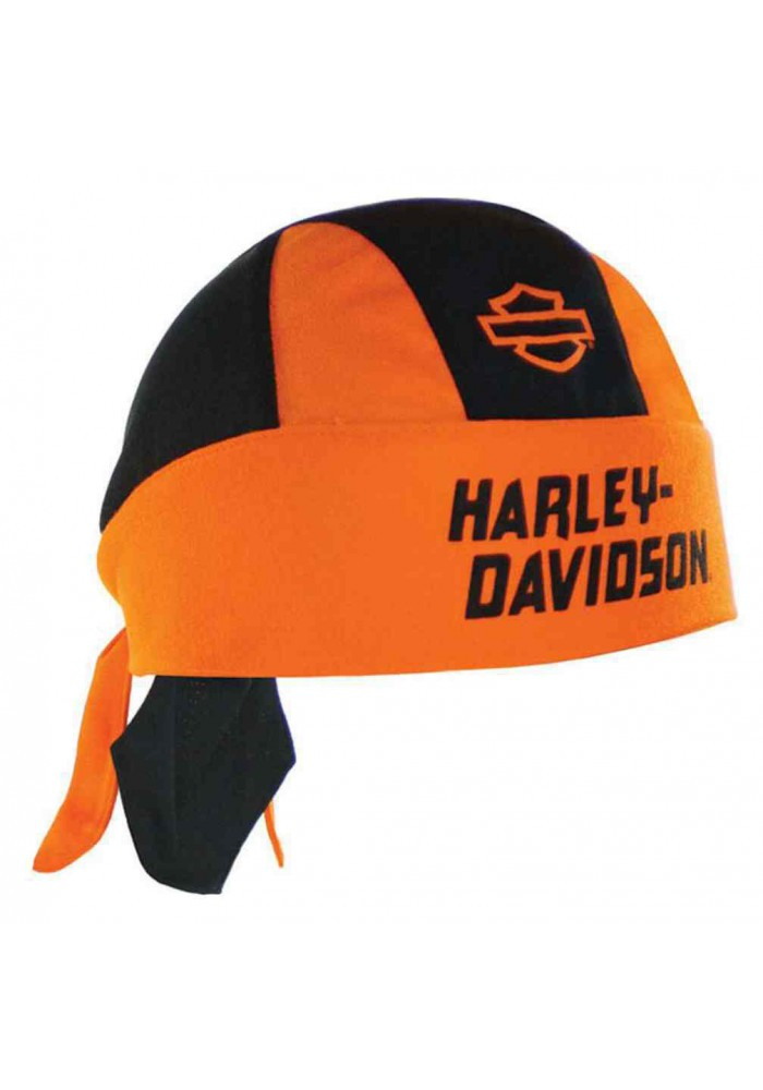Harley Davidson Homme Blank Bar & Shield H-D Script bandana Orange HW40664