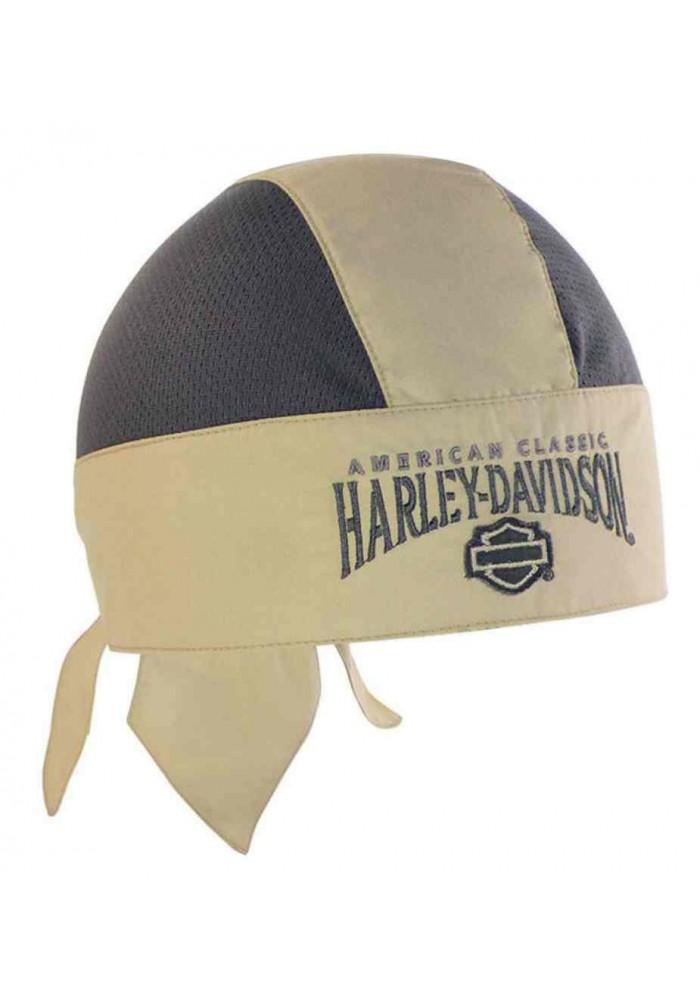 Harley Davidson Homme bandana H-D Script Khaki/Gris HW51612