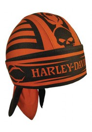 Harley Davidson Homme Thorn Willie G Skull  bandana Burnt Orange HW17564