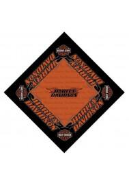 Harley Davidson Homme Strong H-D Bandana Noir Orange BA98630