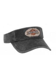 Harley Davidson Homme Long Bar & Shield Visière Casquette Washed Noir VIS31230