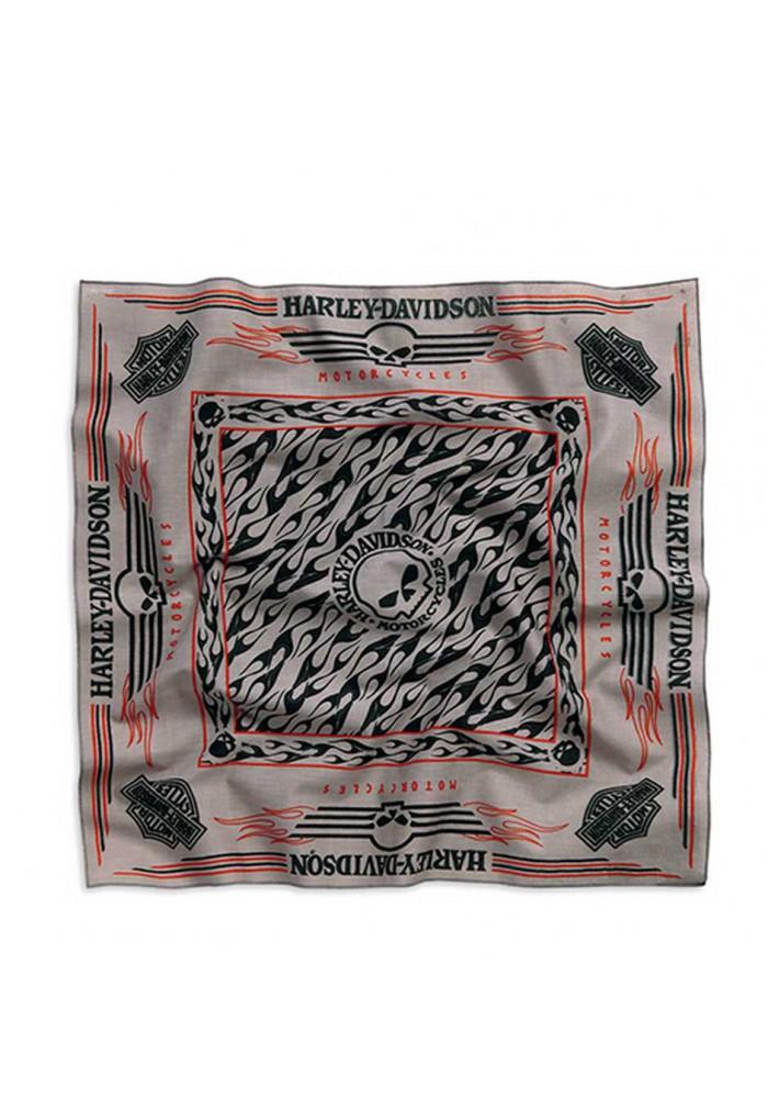 Harley Davidson Homme Skull Bandana Allover Gris/Noir. 99409-15VM
