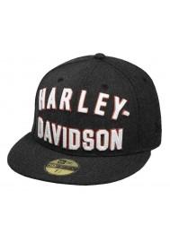 Harley Davidson Homme Chain Stitch 59THIRTY Casquette de Baseball Noir 99461-17VM
