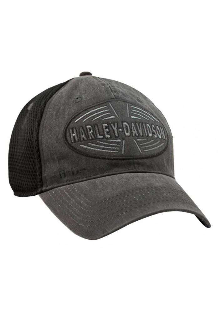 Harley Davidson Homme Destination Oval Logo Back Casquette de Baseball Gris BCC15130
