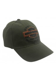 Harley Davidson Homme Long Bar & Shield Casquette de Baseball Olive BCC31253