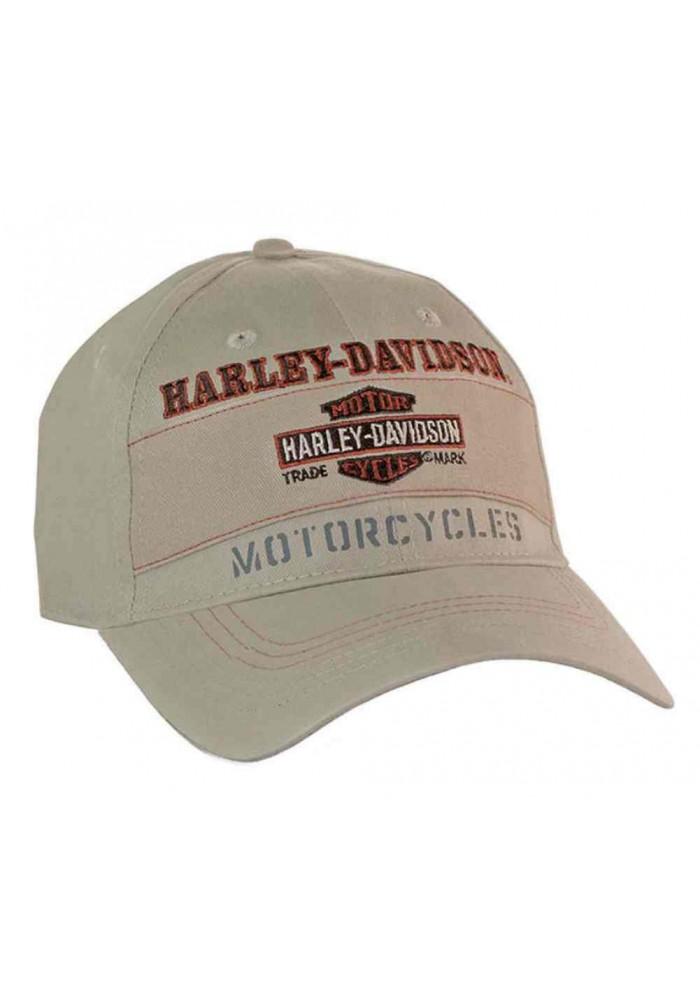 Harley Davidson Homme Casquette de Baseball Nostalgic Bar & Shield Logo Khaki BC31304