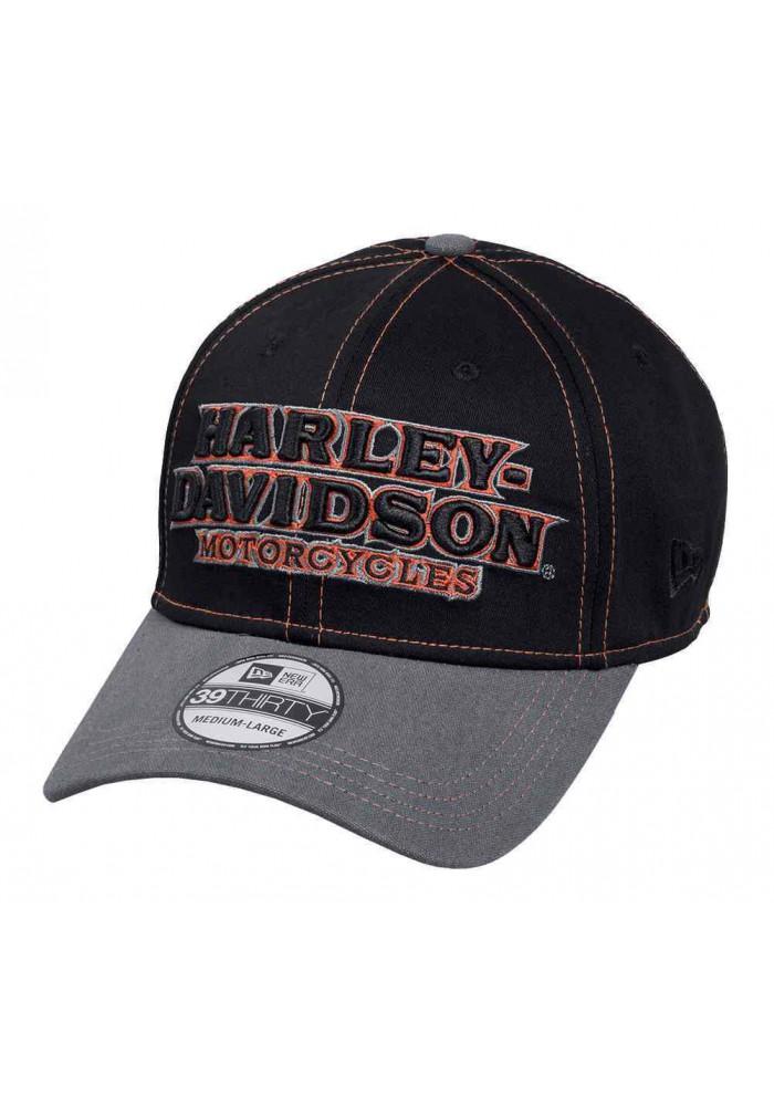 Harley Davidson Homme ed 39THIRTY Casquette de Baseball Noir 99446-16VM