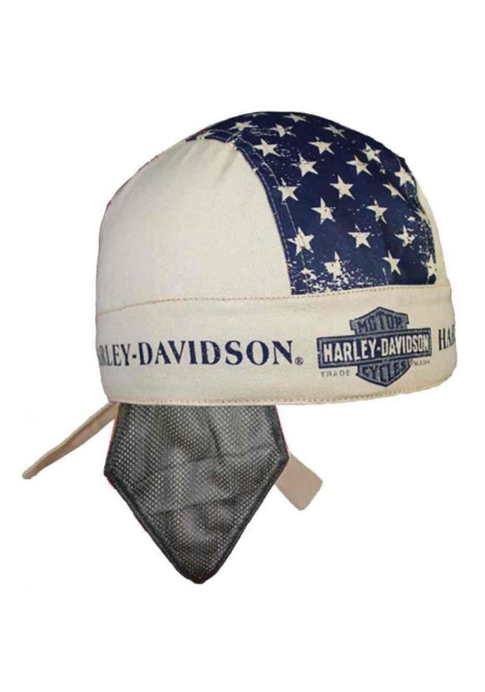 Harley Davidson Homme Liberty bandana Sweatband Khaki HW123256