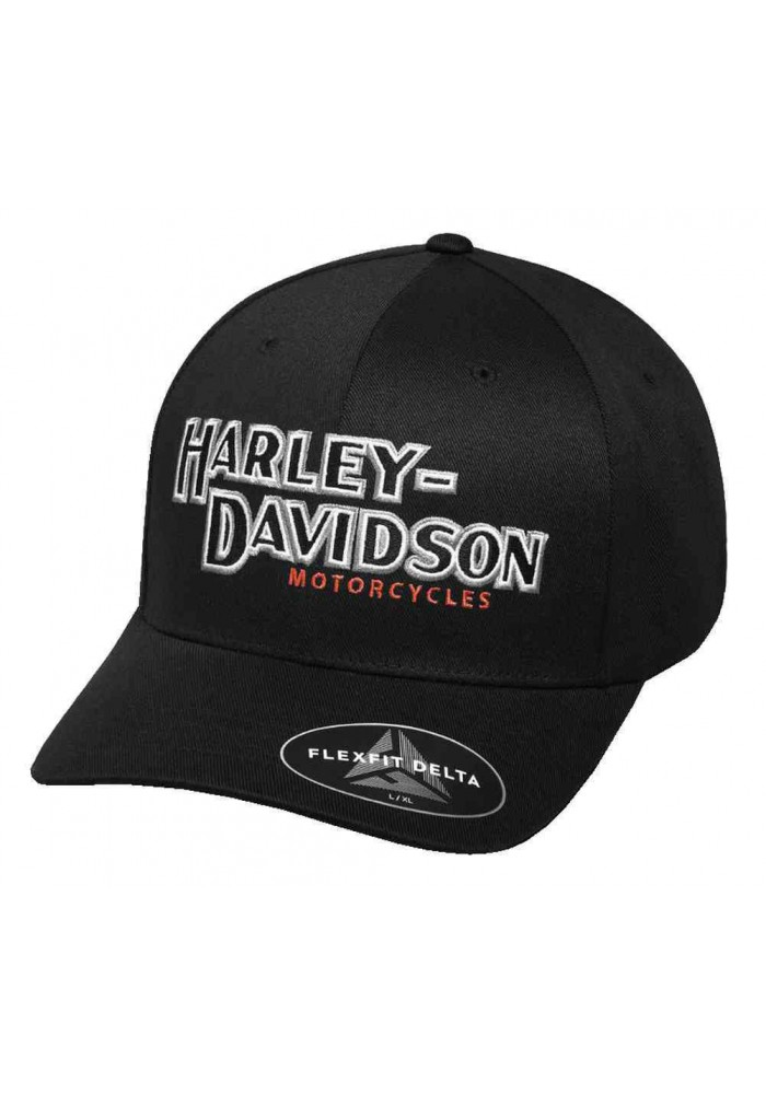 Harley Davidson Homme Performance Iconic Delta Tech Casquette de Baseball 99456-17VM