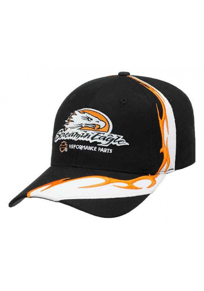 Harley Davidson Homme Screamin' Eagle Flame Sweep Casquette de Baseball Noir HARLMH0276