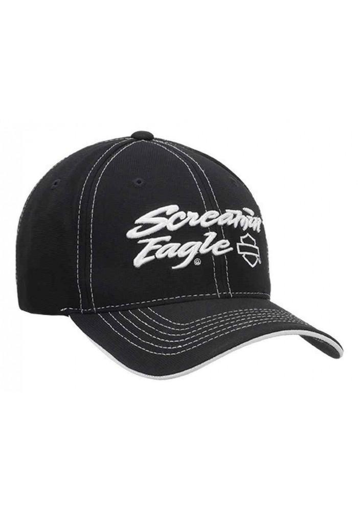 Harley Davidson Homme Screamin' Eagle Performance Script Casquette de Baseball HARLMH0283