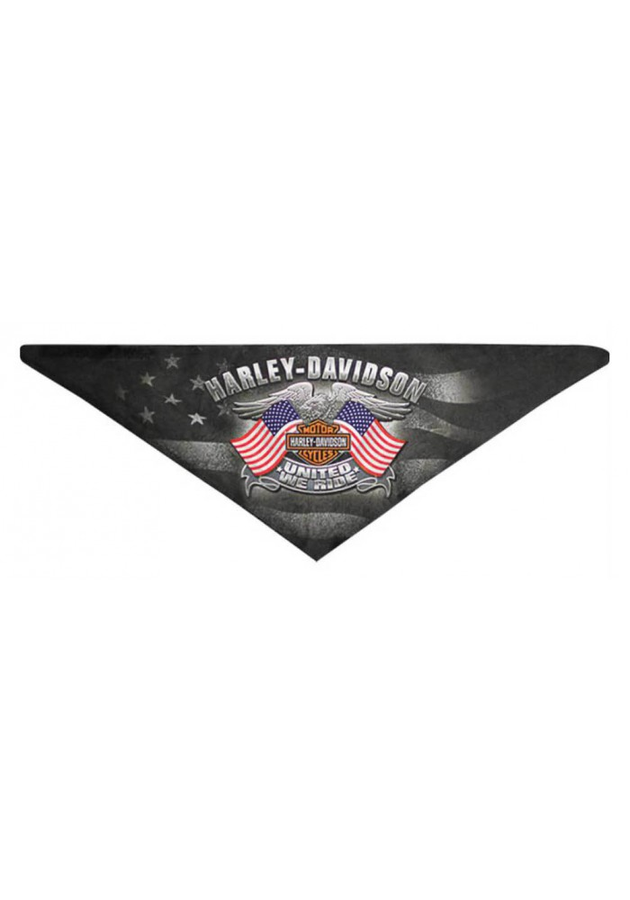 Harley Davidson Homme United We Ride 3-IN-1 Bandana en Polaire Noir BAC12530