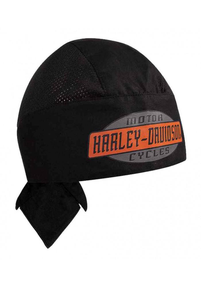 Harley Davidson Homme Air Flow H-D Script bandana Noir HW51630