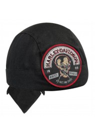 Harley Davidson Homme  Skull Rocker Stitched Patch bandana Noir HW12930