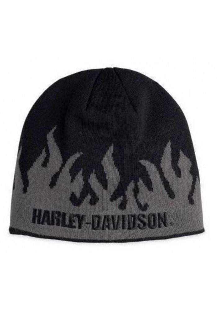 Harley Davidson Homme Flames Bonnet Gris Noir 99473-10VM