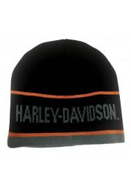 Harley Davidson Homme H-D Script Striped Bonnet Noir KNCUS027030