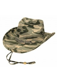 Harley Davidson Homme Outback Fedora H-D Embroidery Script Strap Camo. HD-465