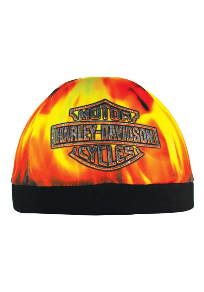 Harley Davidson Homme Hell Fire Flames casquette Bar & Shield Logo Skull SK17164