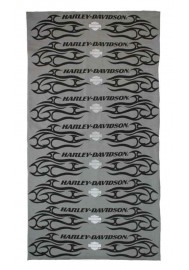 Harley Davidson Homme Pinstripes Flames Bandana Gris MHW17754