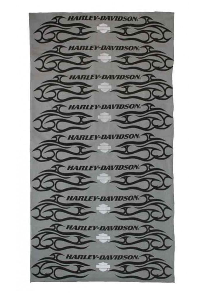 Harley Davidson Homme Pinstripes Flames Bandana Gris MHW17754