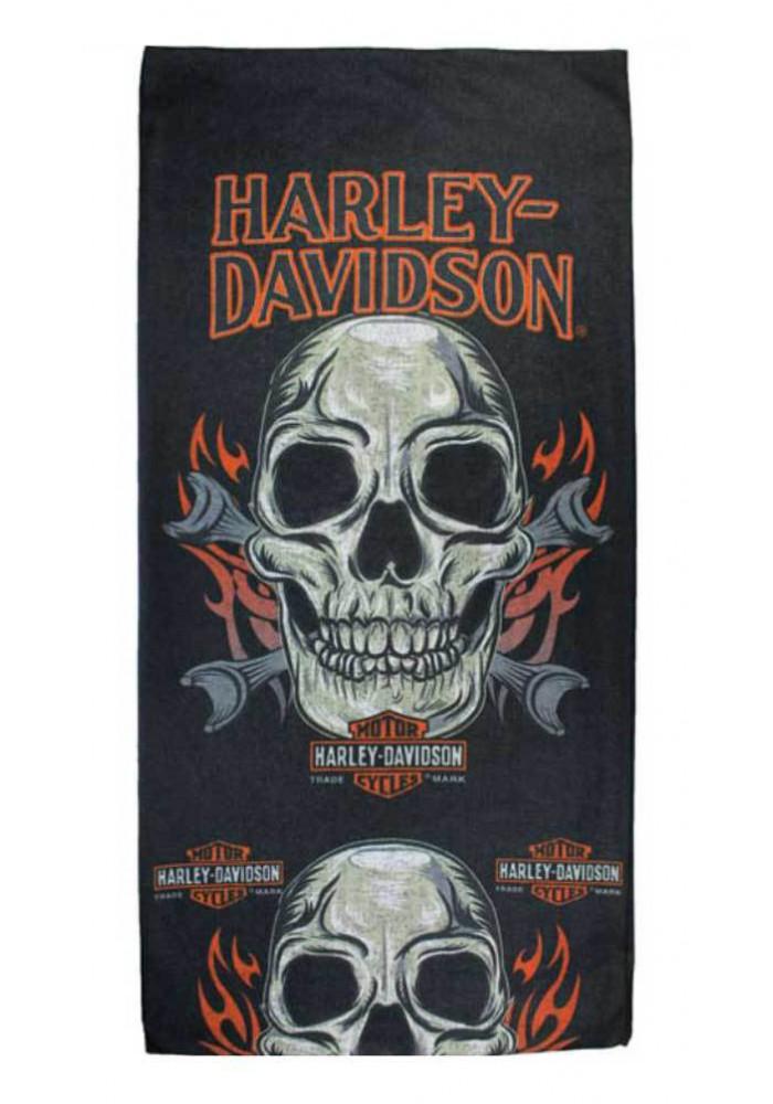 Harley Davidson Homme Skull Mouth Bandana Noir MHW19630