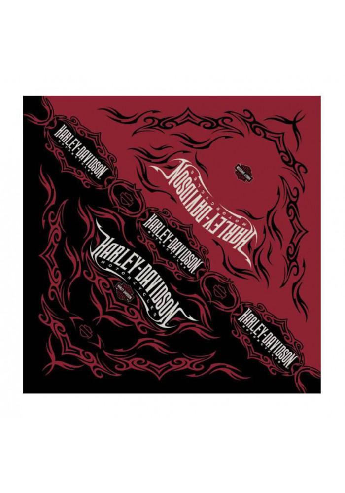 Harley Davidson Homme Tribal Razor Bandana Rouge Noir BA64132