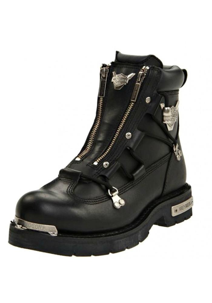 bottes harley davidson brake light en cuir noir ref d91680 botte moto homme. Black Bedroom Furniture Sets. Home Design Ideas