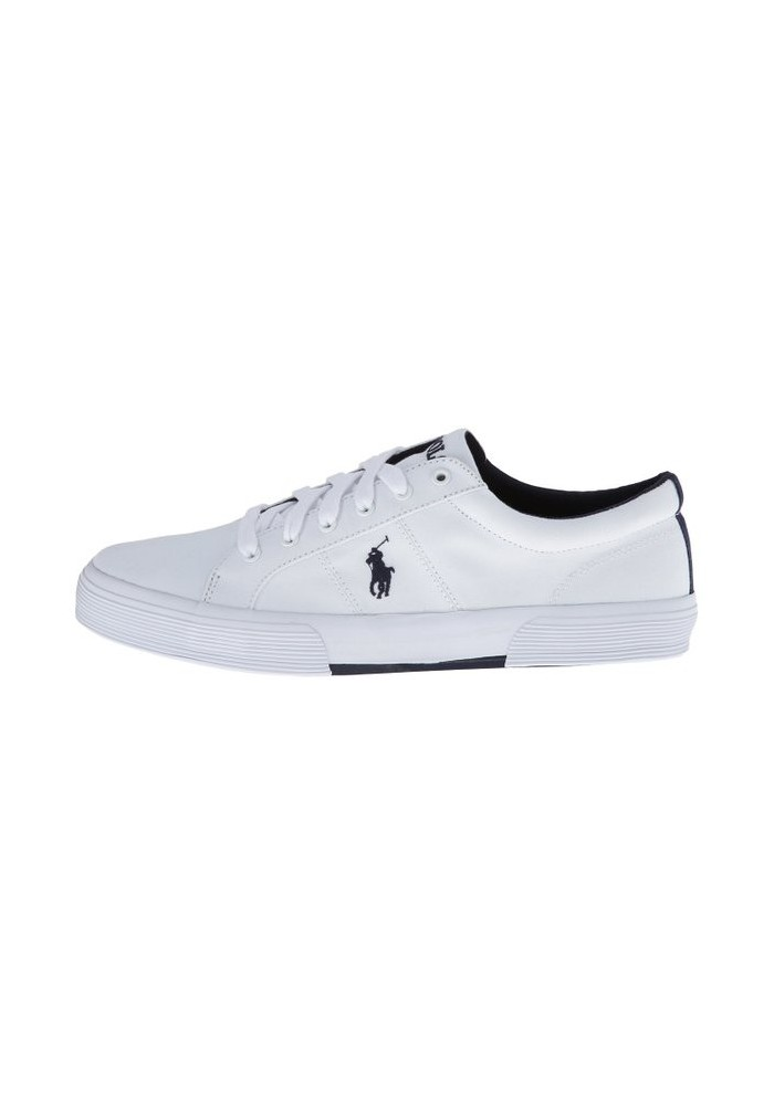 Chaussure Ralph Lauren - Felixstow Pure White Toile - Homme
