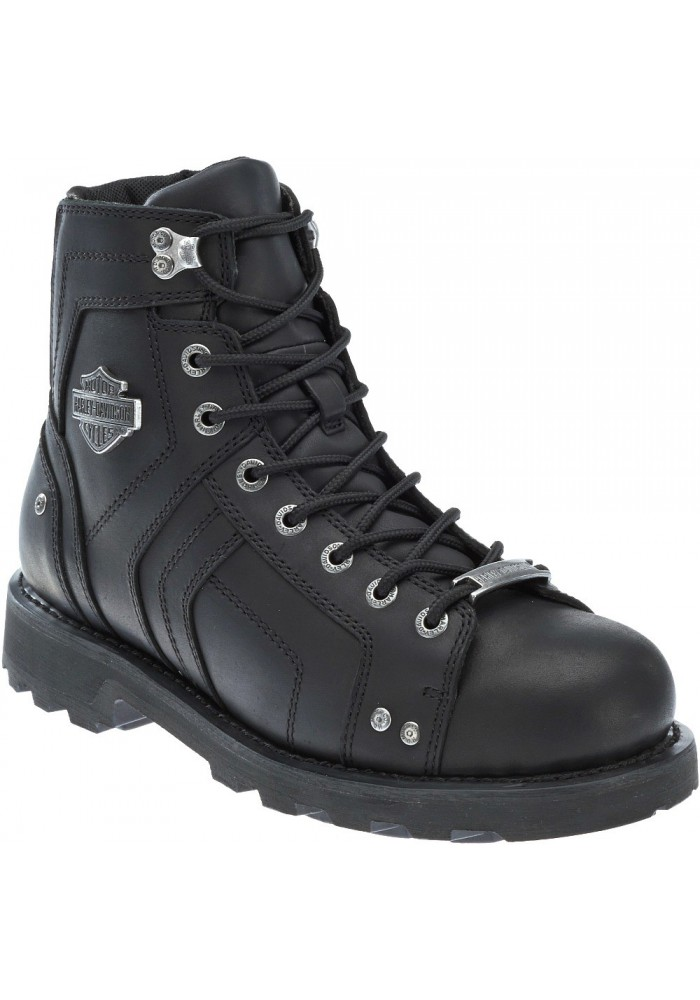 Chaussures / Bottes Harley Davidson Mandrake Cuir Noir Moto Hommes D96111