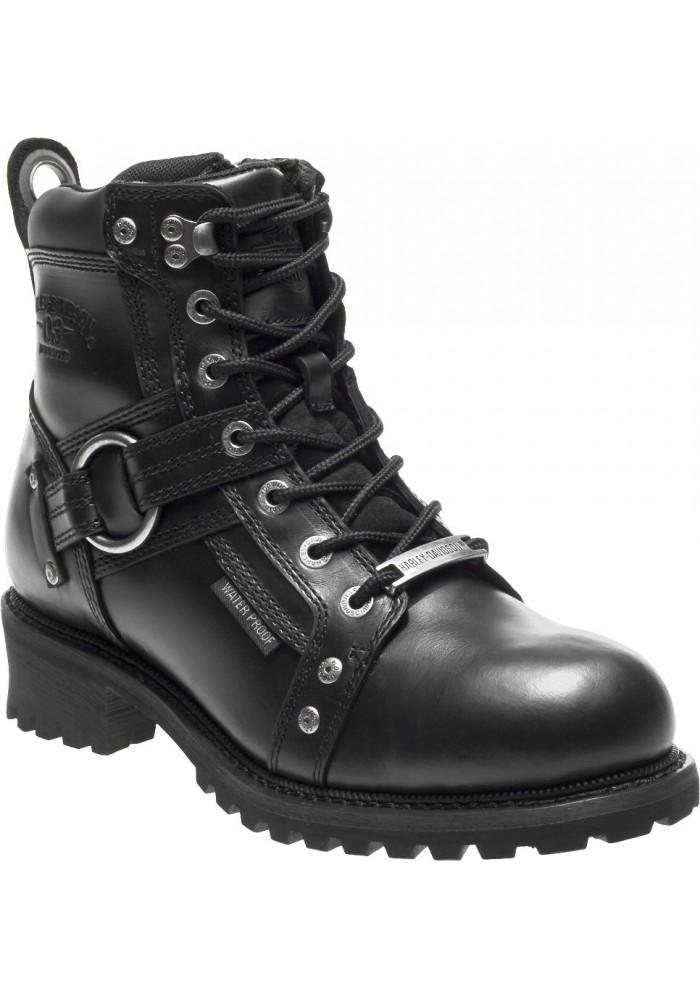 Chaussures / Bottes Harley Davidson Pierce Noir Waterproof Moto Hommes – D96143