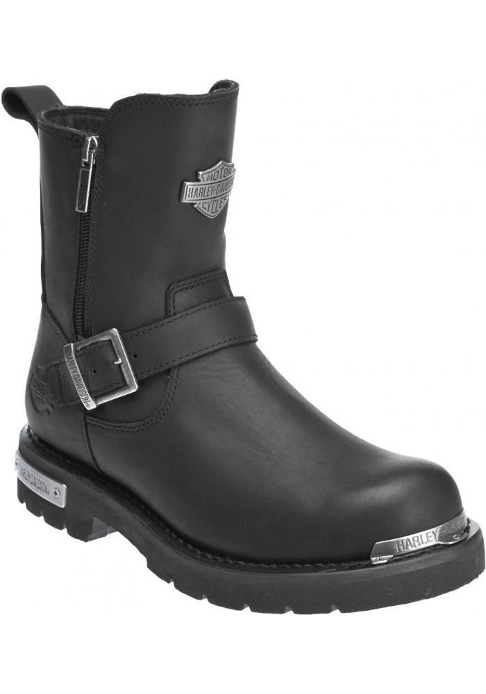 Chaussures / Bottes Harley Davidson Startex Cuir Noir Moto Hommes  D96090