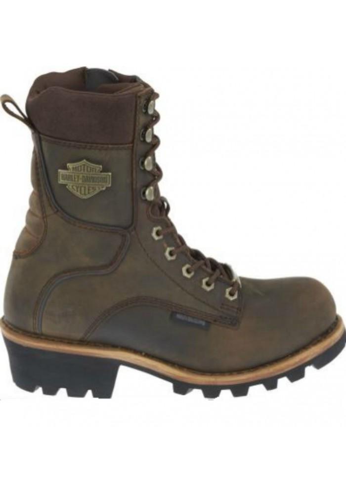 Chaussures / Bottes Harley Davidson Tyson Logger Moto Hommes Marron D96100