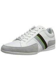Chaussure Hugo Boss Green - Space Leather Blanche - Homme