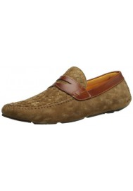 Mocassin Magnanni en Cuir Murcia Penny Taupe Homme