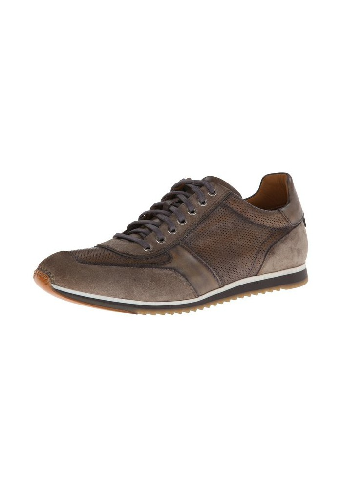 Basket Mode Magnanni en Cuir Serrano Sand Sneakers Homme