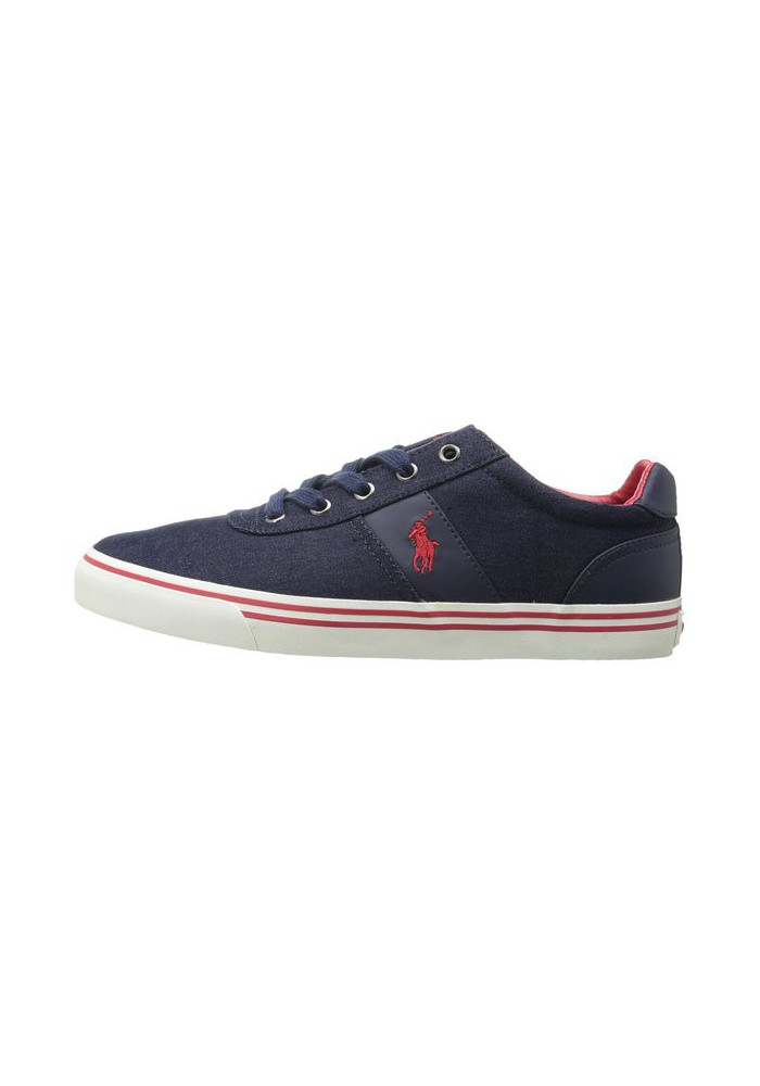 Chaussure Ralph Lauren - Hanford (Couleur : Navy/Red) Toile - Homme