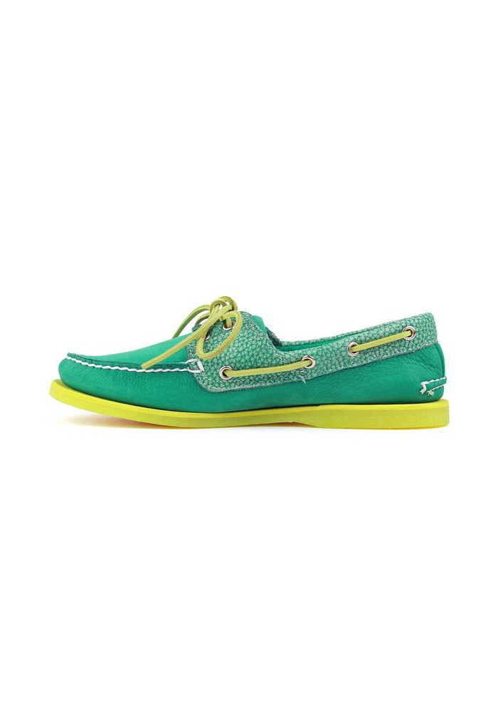 Chaussure Timberland Classic 2-Eye Bateau Cuir (Couleur : Bosphorus Green/Green) Homme