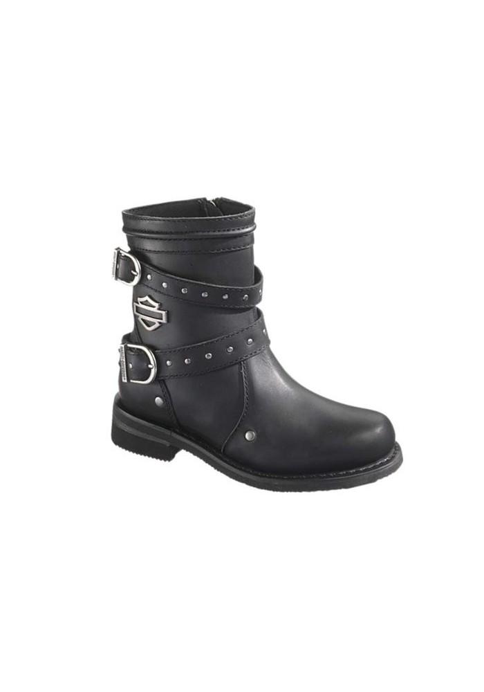bottes harley davidson chryse en cuir noir ref d87011 botte moto femme. Black Bedroom Furniture Sets. Home Design Ideas