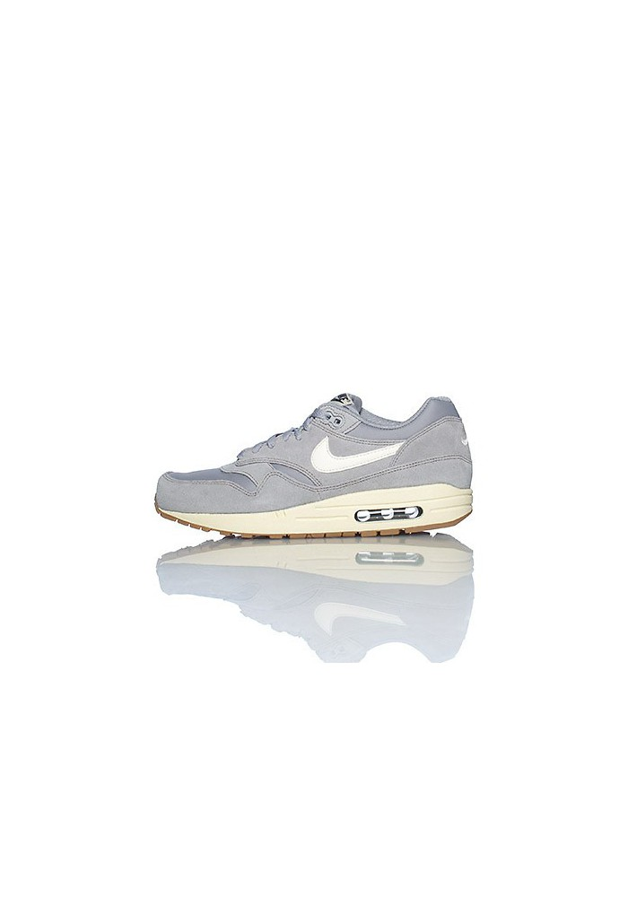 Baskets Nike Air Max 1 Essential Grise (Ref : 537383-015) Hommes Running