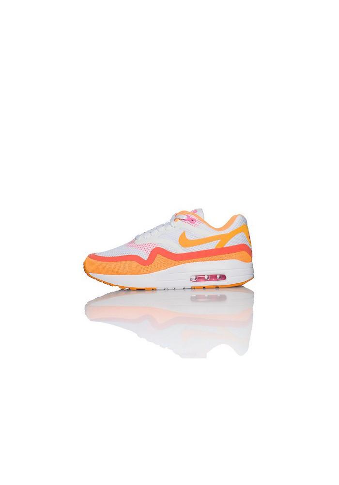 Basket Mode - Nike Air Max 1 Breeze (Ref : 644443-101) Orange Femmes Running