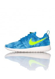 Nike Roshe Run Homme / Print Bleu (Ref: 655206-430) Running