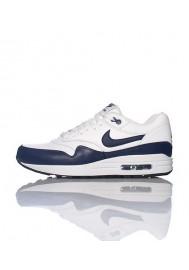 Nike Air Max 1 Cuir Bleu Marine (Ref : 654466-101) Basket Hommes Running
