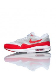 Nike Air Max Lunar 1 Rouge (Ref : 654469-101) Basket Hommes Running