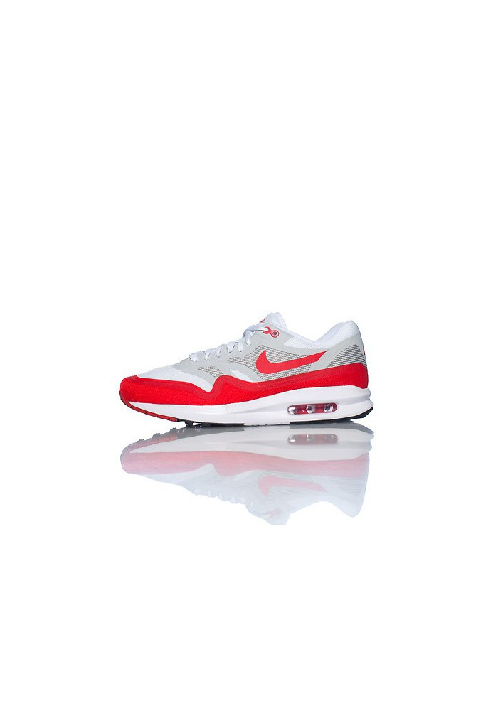 Baskets Nike Air Max Lunar 1 Rouge (Ref : 654469-101) Hommes Running