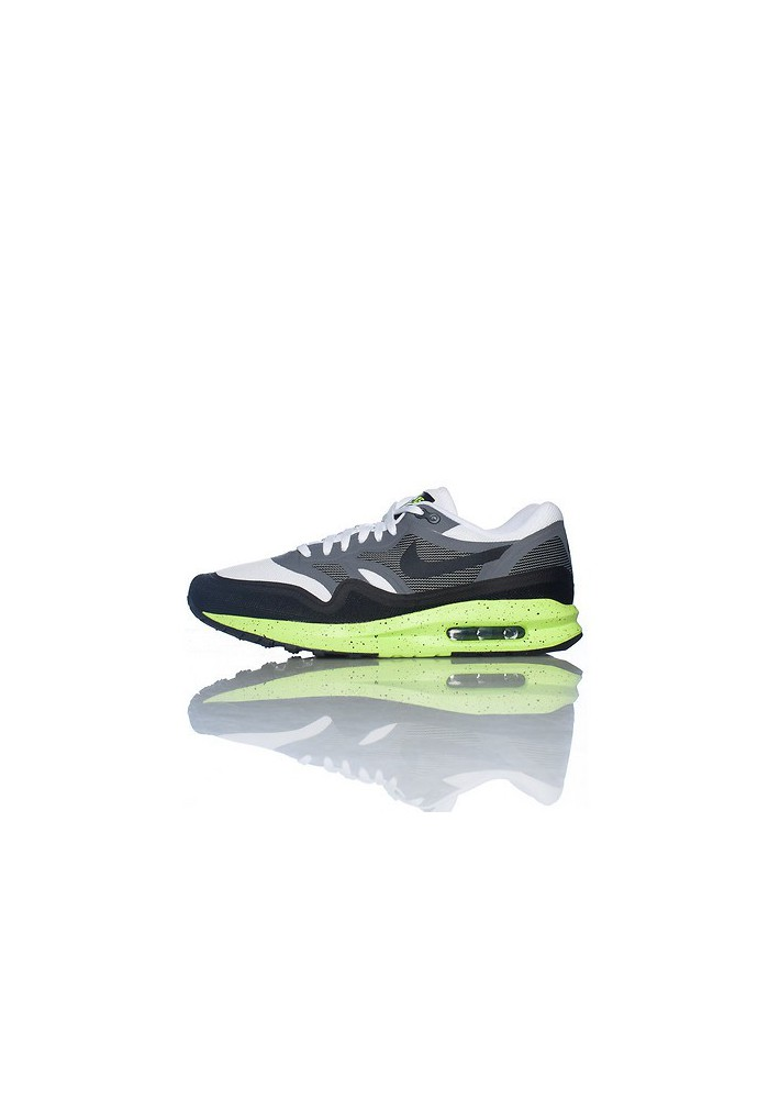 Baskets Nike Air Max Lunar 1 Grise (Ref : 654469-100) Hommes Running